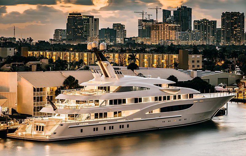 Amatasia yacht by Lürssen in Fort Lauderdale, USA