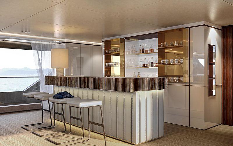 Benetti Oasis 40M yacht interior renderings