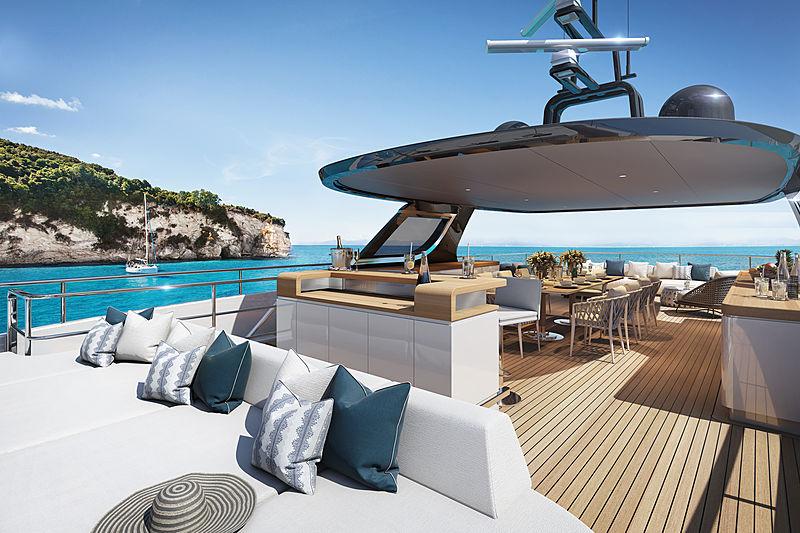 Benetti Oasis 135 yacht exterior renderings