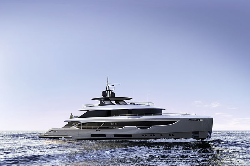 Benetti Oasis 40M yacht exterior renderings