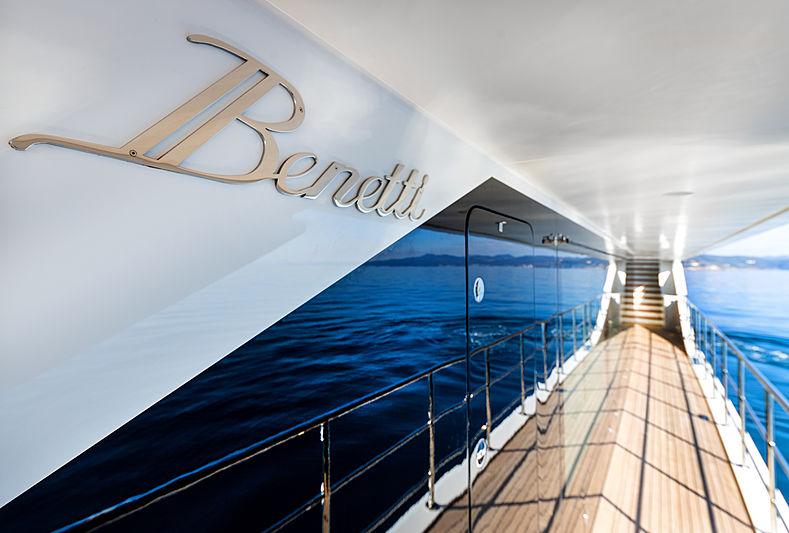 Seven yacht Benetti logo