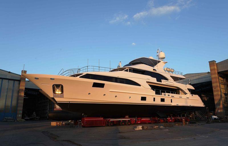 Lady Lillian launch in Viareggio