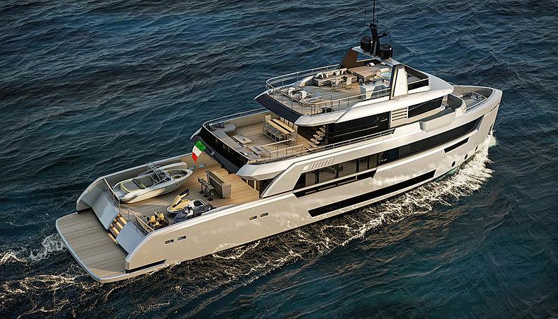 Ocean King Ducale 118 yacht exterior design
