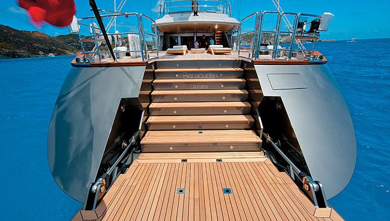 Baracuda Valetta yacht stern