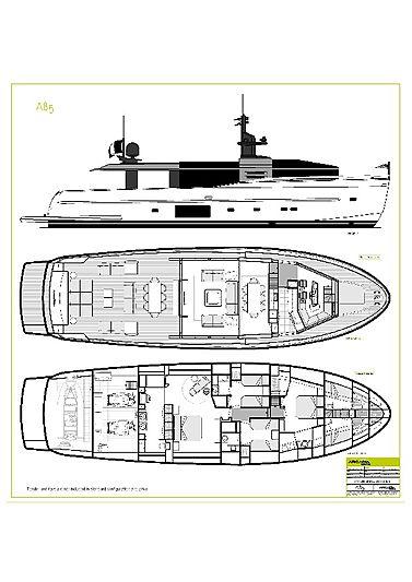Arcadia 85 yacht layout