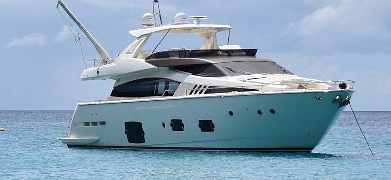 La Pace yacht anchored
