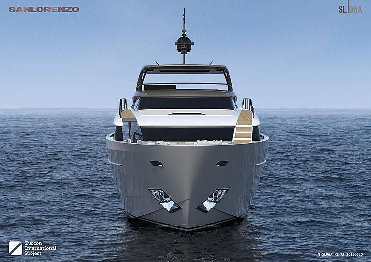 SanLorenzo SL96 Asymmetric exterior design