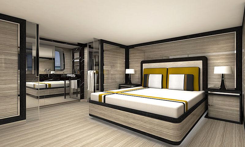 SanLorenzo SL96 Asymmetric interior design