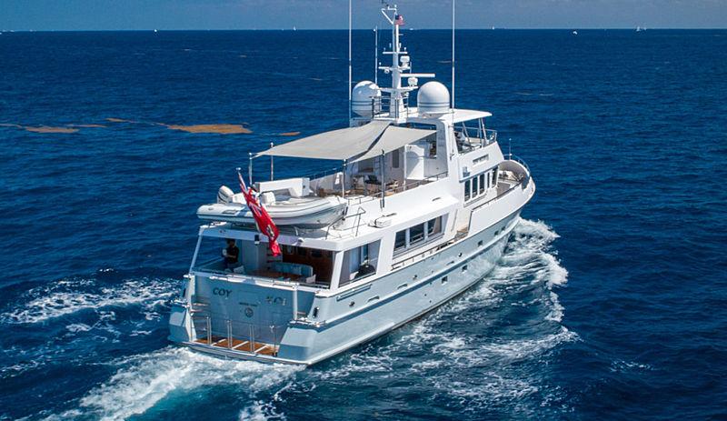 Coy Koi yacht cruising