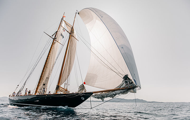 Mariette of 1915 yacht at the 2019 Loro Piana Superyacht Regatta Day 1
