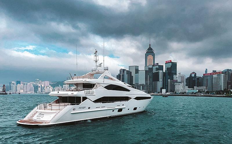 Rhine yacht by Sunseeker in Hong Kong