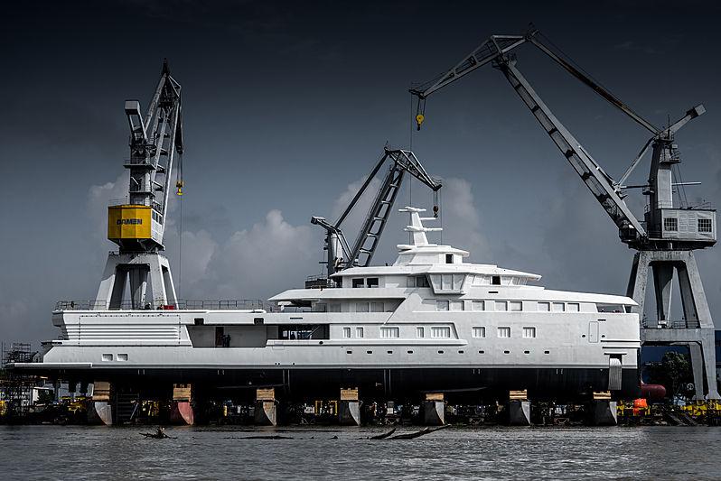 Damen SeaExplorer La Datcha yacht technical launch in Galati