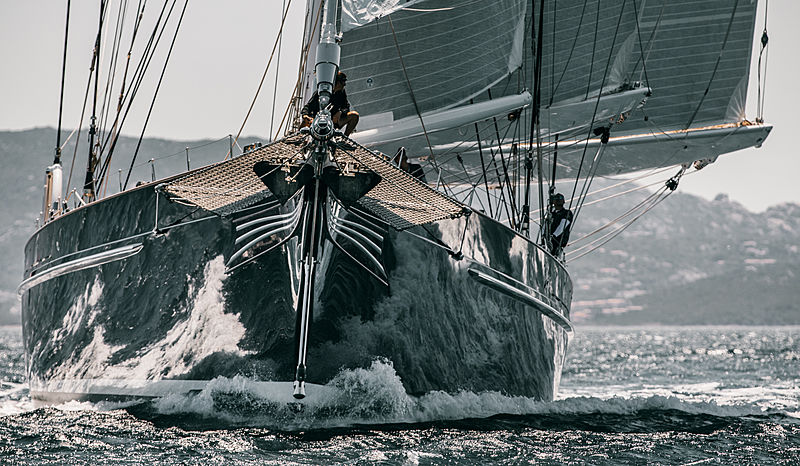 Meteor sailing yacht at 2019 Loro Piana Superyacht Regatta Day 2