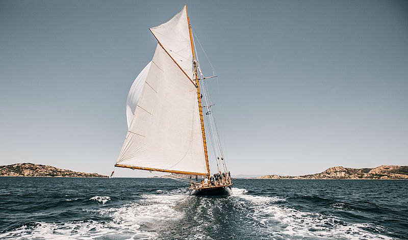 Mariette of 1915 yacht at the 2019 Loro Piana Superyacht Regatta Day 2