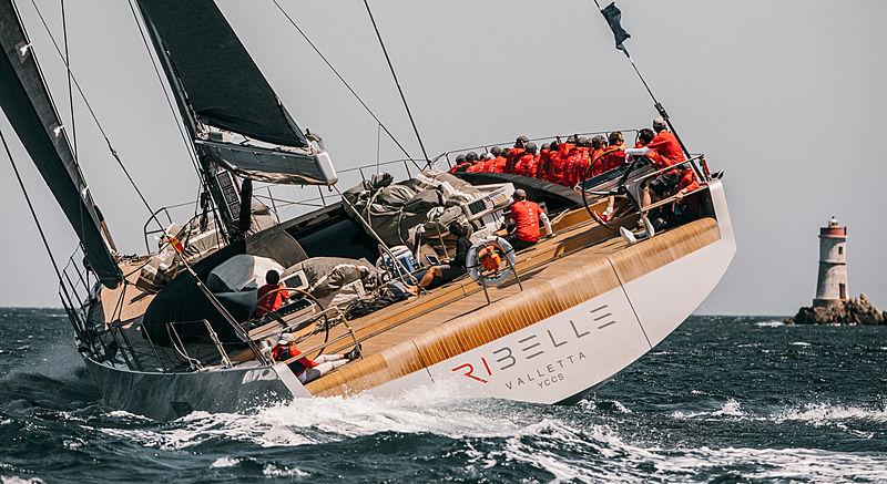 Ribelle yacht at the 2019 Loro Piana Superyacht Regatta Day 2