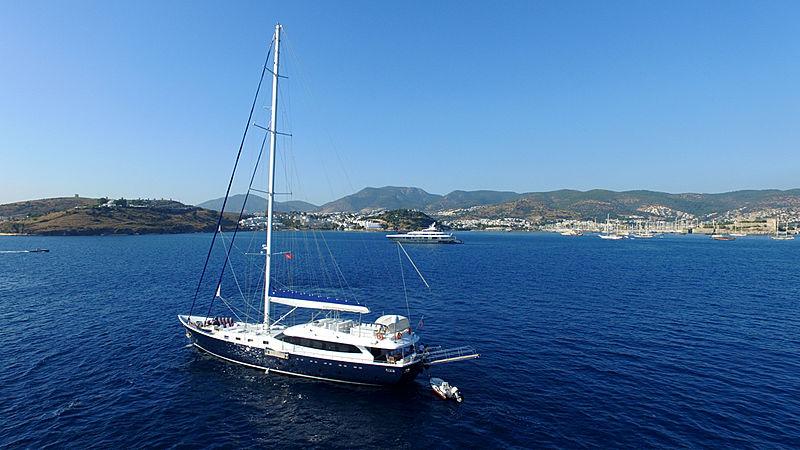 Gulmaria yacht at anchor