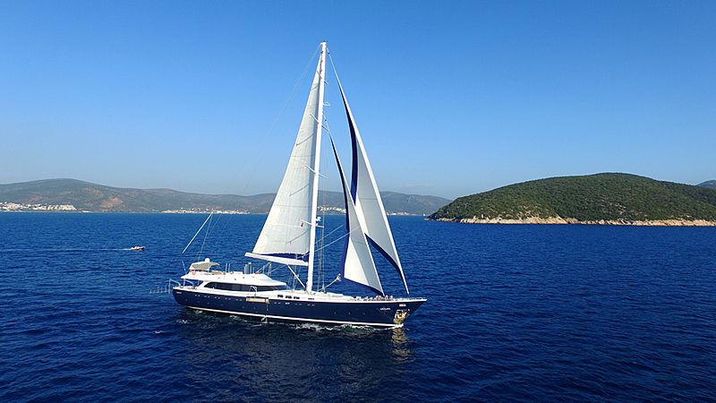 Gulmaria yacht sailing