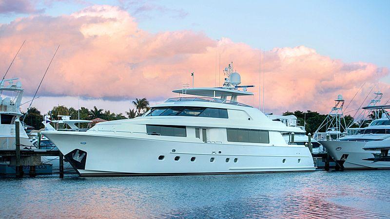 Wild Kingdom yacht in marina