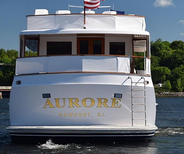 Aurore yacht stern