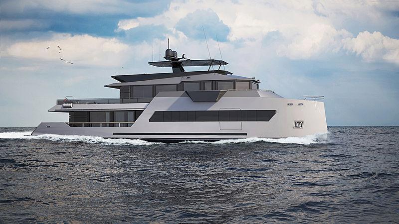 Viatorem 130 yacht concept exterior design