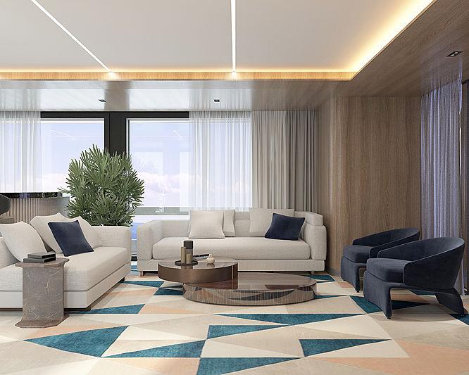 Viatorem 130 yacht concept interior design