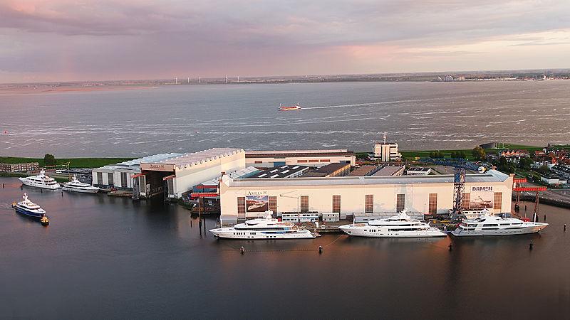Amels shipyard