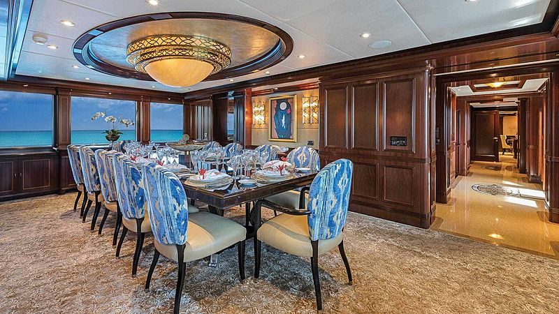 Sovereign yacht dinning area