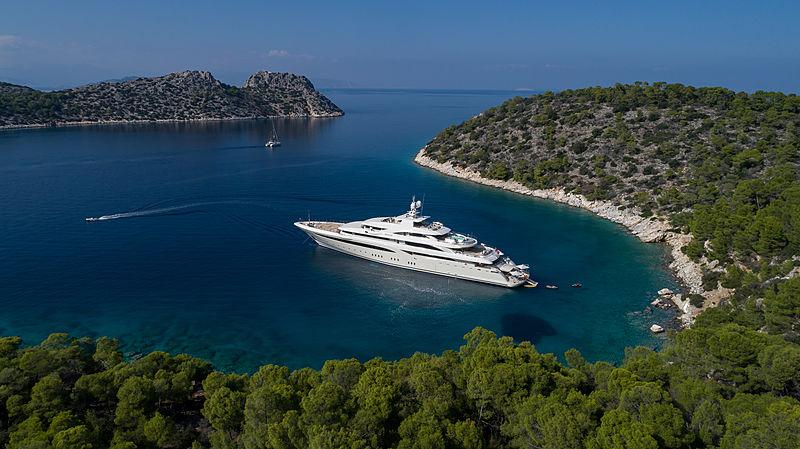 O'ptasia yacht aerial