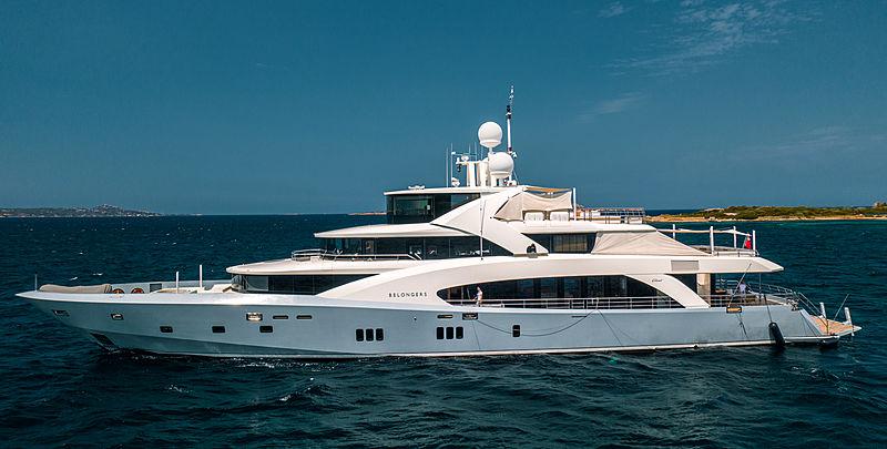 Belongers yacht anchored