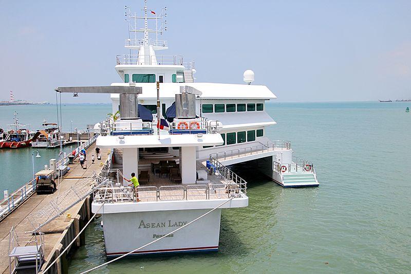Asean Lady yacht at Raffles Marina