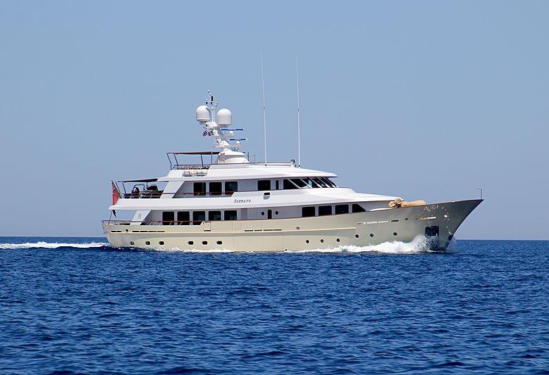 Soprano yacht cruising off Porto Cervo