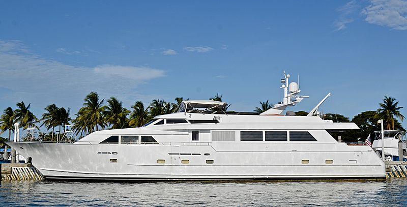 Audacity yacht docked