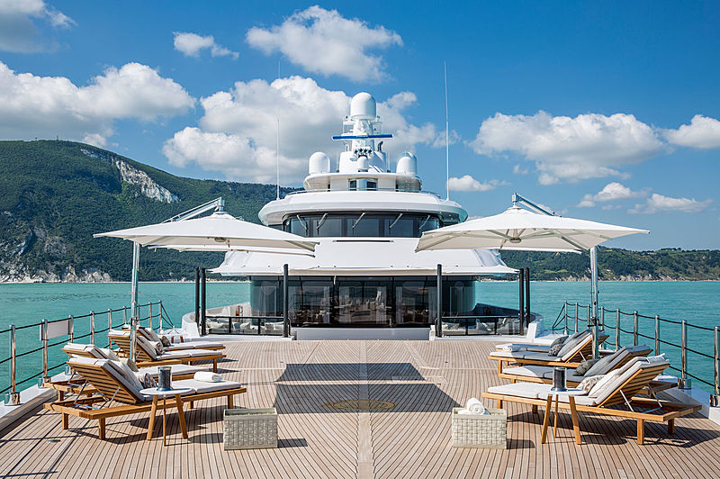 Dragon yacht front deck