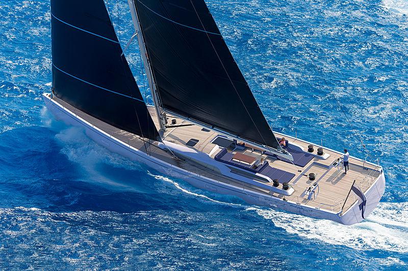 Nautor 98 yacht interior rendering