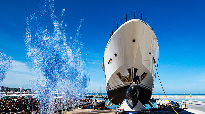 CRN 135 Mimtee yacht launch