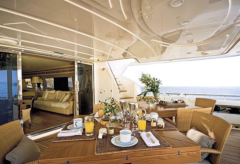 Tian yacht aft deck