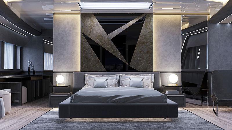 Dominator Ilumen 38m yacht interior rendering
