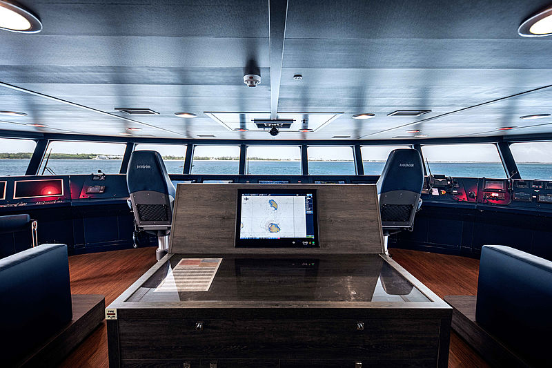 Hodor yacht interior - wheelhouse