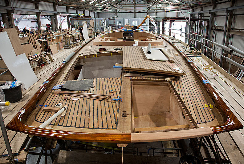 Spirit 111 yacht in build