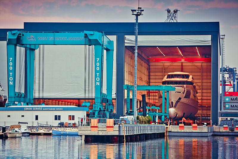 Bilgin shipyard at West Istanbul Marina
