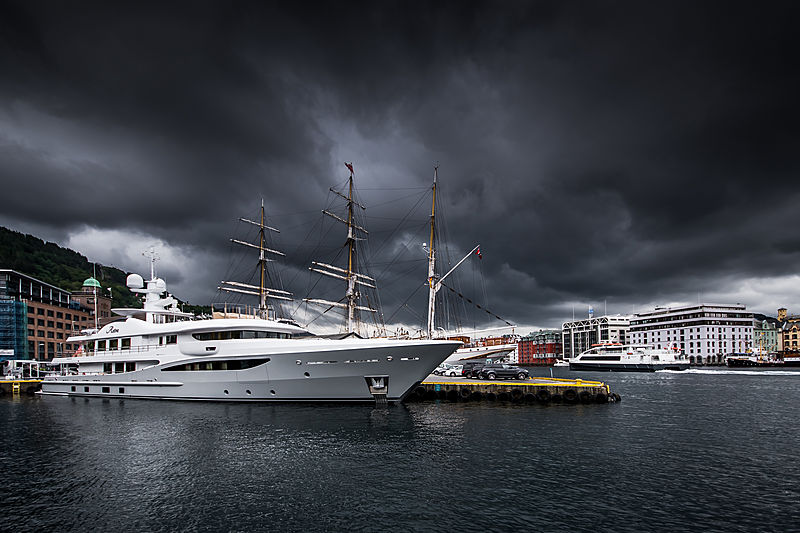 Stra yacht by Amels in Bergen, Norway