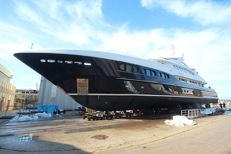 Refit of 4You yacht at KRM shipyard