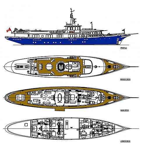 Nadan yacht deck plan