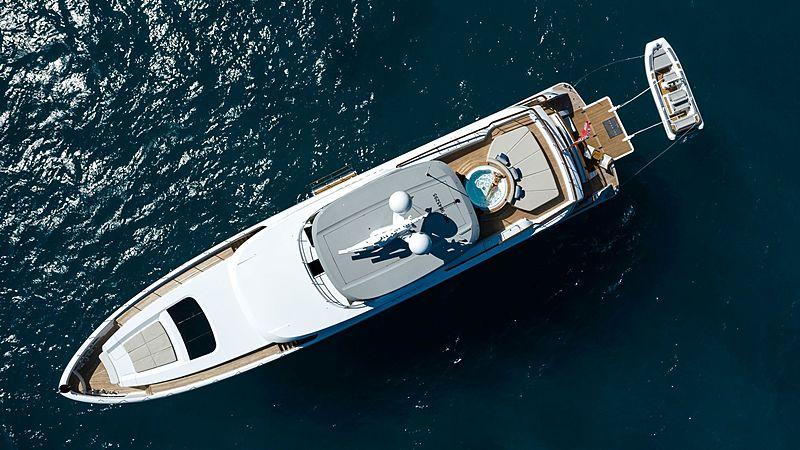 Calypso yacht aerial