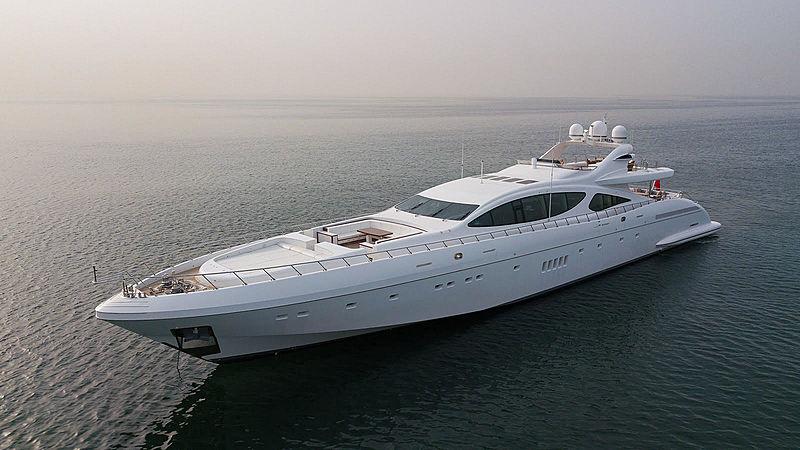 Samhana yacht anchored