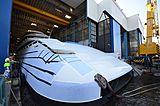 Feadship Van Lent  818 launch in De Kaag