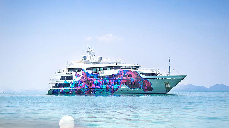 Saluzi yacht at anchor