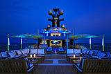 Tranquility yacht deck at night