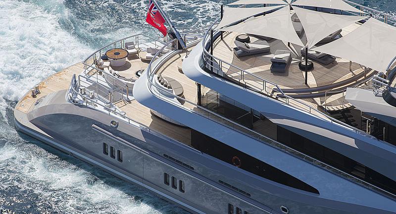 Kismet yacht aft decks