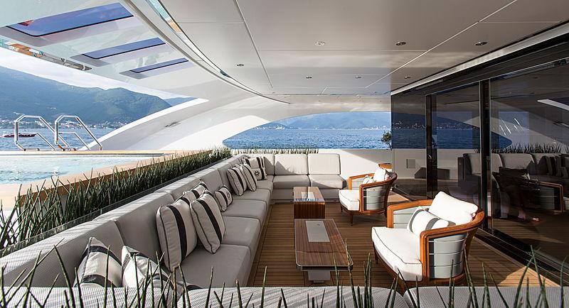 Galactica Super Nova yacht  aft deck